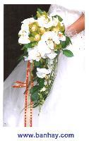 Hoa cẩm tay cô dâu